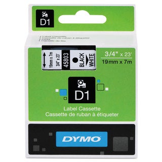 DYMO D1 High-Performance Polyester Removable Label Tape 3/4-inch x 23-feet Black on White