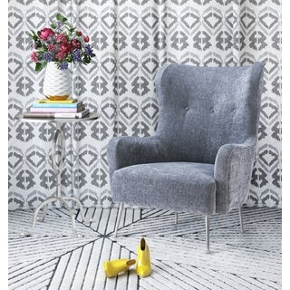 Ethan Grey Velvet Accent Chair