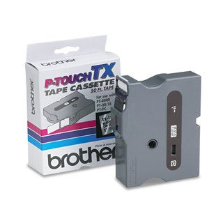 Brother P-Touch TX Tape Cartridge for PT-8000 PT-PC PT-30/35 1w Black on Clear