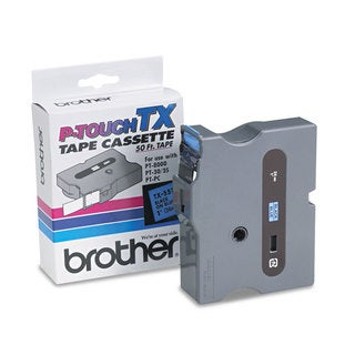 Brother P-Touch TX Tape Cartridge for PT-8000 PT-PC PT-30/35 1w Black on Blue