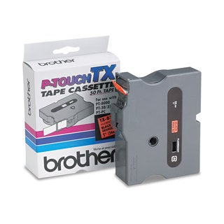 Brother P-Touch TX Tape Cartridge for PT-8000 PT-PC PT-30/35 1w Black on Fluorescent Orange