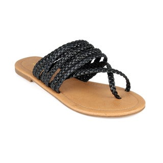 Mark and Maddux Hayden-01 Women's Flat Braided Thong Sandals