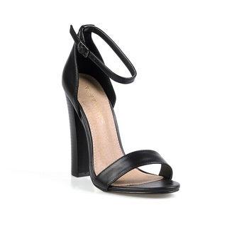 Mark and Maddux Marcus-03 Single Sole Women's Chunky High Heel Sandal