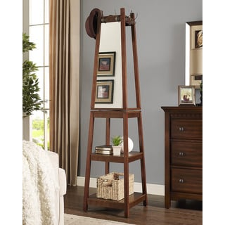 vassen coat rack with 3 tier storage shelves espresso finish