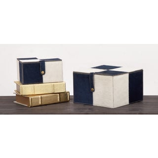 Urban Designs Leather Handmade 2-piece Keepsake Decorative Box Set