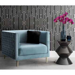 Sal Sea Blue Woven Chair