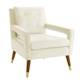 Draper Cream Velvet Accent Chair