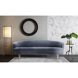 Baila Grey Velvet Sofa