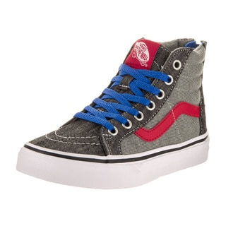 Vans Kid's Sk8-Hi Zip Jersey Denim Skate Shoes