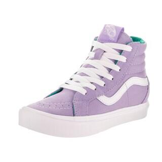Vans Kids Sk8-Hi Reissue Li (Pop) Purple Suede Skate Shoes