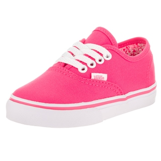 Vans Toddlers Authentic (Neon Splatter) Pink Canvas Skate Shoe