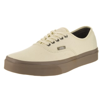 Vans Unisex Authentic (C D) Beige Canvas Skate Shoes