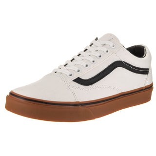 Vans Unisex Old Skool Gum White Canvas Skate Shoes