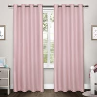 ATI Home Tweed Thermal Woven Blackout Grommet Top Curtain Panel Pair