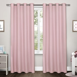 ATI Home Tweed Thermal Woven Blackout Grommet Top Curtain Panel Pair - 52x84