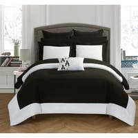 Copper Grove Norreskoven Black and White 10-Piece Bed In A Bag Comforter Set