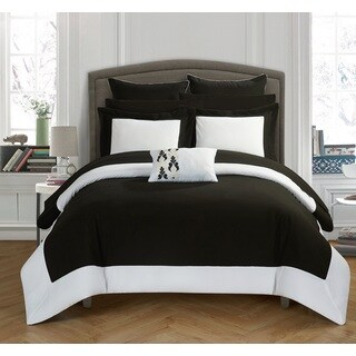 Chic Home Black and White 10-Piece Bed In A Bag Comforter Set