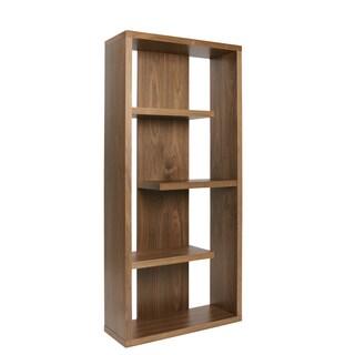 Euro Style Robyn Walnut Finish Veneer 4-shelf Unit