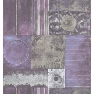 Purple Tribal Geometric Washable Wallpaper