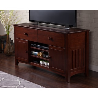 Atlantic Mission Walnut 2-drawer Entertainment Console with Adjustable Shelves
