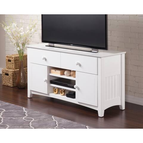 Atlantic Nantucket White 50-inch 2-drawer Adjustable-shelf Entertainment Console