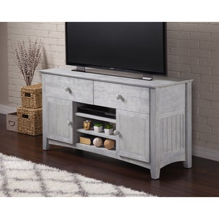 Atlantic Nantucket Grey Wood 50-inch Entertainment Console
