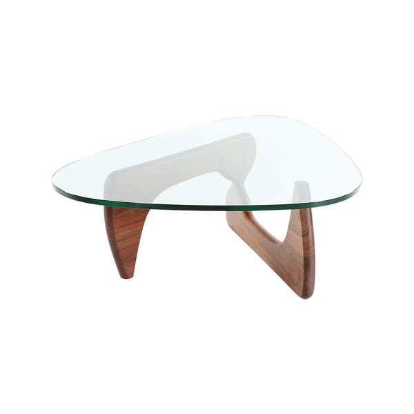 Hans Andersen Home Noguchi Style Coffee Table In Walnut Finish