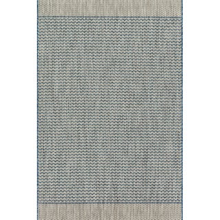 "Indoor/ Outdoor Chevron Stripe Patio Rug - 7'10"" x 10'9"""