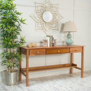 Maura Wood Desk with Drawers by Christopher Knight Home