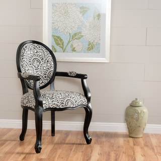 Woodridge Paisley Patterned Fabric Arm Chair by Christopher Knight Home