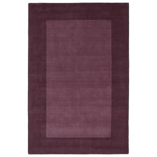 "Borders Grape Hand-Tufted Wool Rug (5' x 7'9"")"