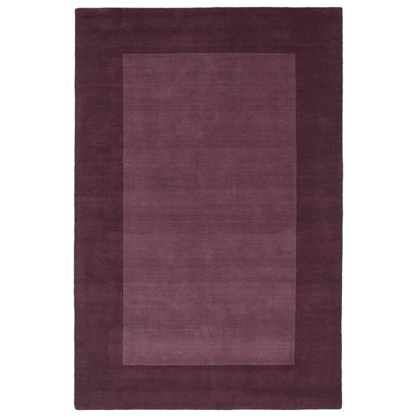 Borders Grape Hand-Tufted Wool Rug (8'0 x 10'0) - 8' x 10'