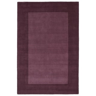 Borders Grape Hand-Tufted Wool Rug (8' x 10')