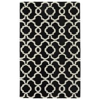 Cosmopolitan Black Trellis Rug (8'0 x 11'0)