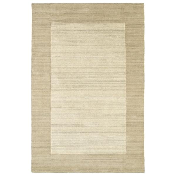 "Borders Linen Hand-Tufted Wool Rug - 3'6"" x 5'3"""