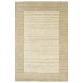 "Borders Linen Hand-Tufted Wool Rug - 5' x 7'9"""