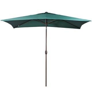Abba Patio Rectangular Market Outdoor Table Patio Umbrella, Dark Green