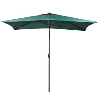 Abba Patio Rectangular Market Outdoor Table Patio Umbrella, Dark Green
