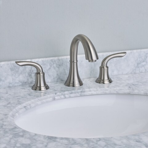 EVIVA Friendy Widespread Bathroom Faucet in Brushed Nickel
