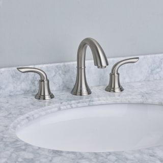 EVIVA Friendy Widespread Bathroom Faucet in Brushed Nickel