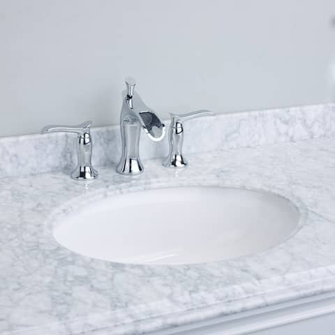 EVIVA Swan Luxury Water-fall Widespread 3-hole Bathroom Sink Faucet