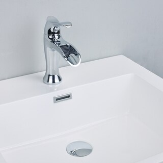 EVIVA Swan Luxury Water-fall Single Handle (Lever) Bathroom Sink Faucet (Chrome)