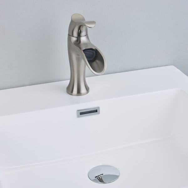 Shop Eviva Swan Luxury Water Fall Single Handle Lever Bathroom