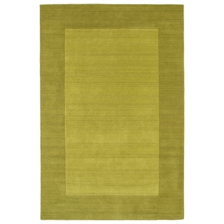 Borders Lime Green Hand-Tufted Wool Rug (3'6 x 5'3) - 3'6 x 5'3
