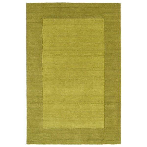 Borders Lime Green Hand-Tufted Wool Rug - 5' x 7'9""