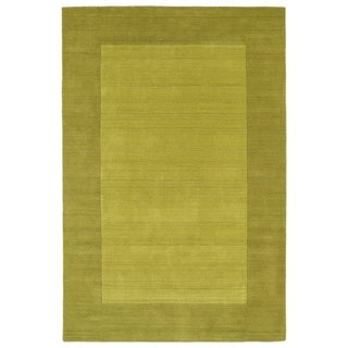Borders Lime Green Hand-Tufted Wool Rug - 8' x 10'
