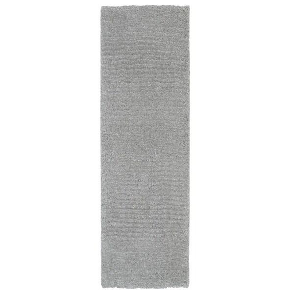 Fluffy Grey Shag Rug - 2'3 x 8'