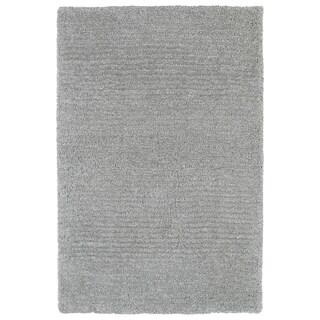 Fluffy Grey Shag Rug (3'6 x 5'6)