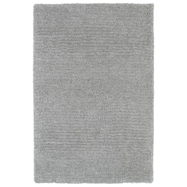 """Fluffy Grey Shag Rug - 5' x 7'6"""""""