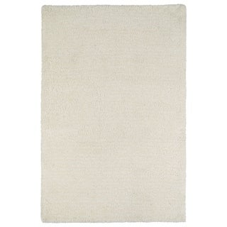 "Fluffy White Shag Rug - 5' x 7'6"""